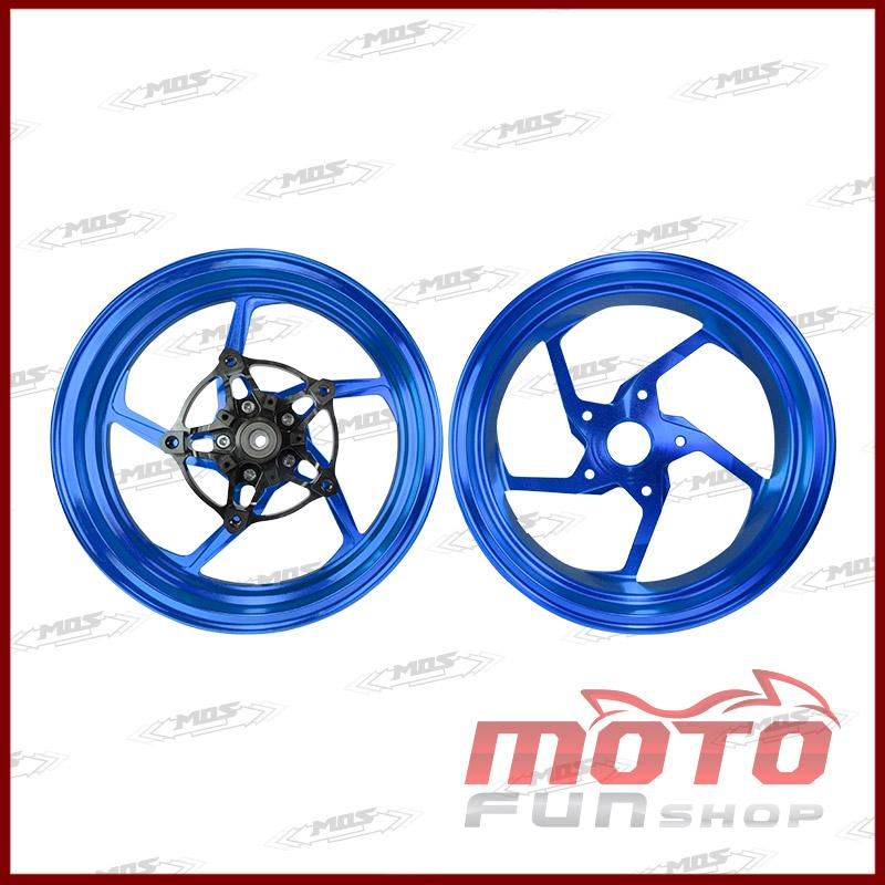 SYM DRG 鍛造輪框5爪-藍